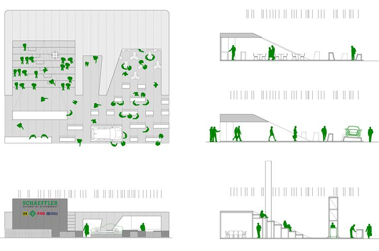 arquitectura efímera Shaeffler stand www.circular-studio.com © Circular Studio