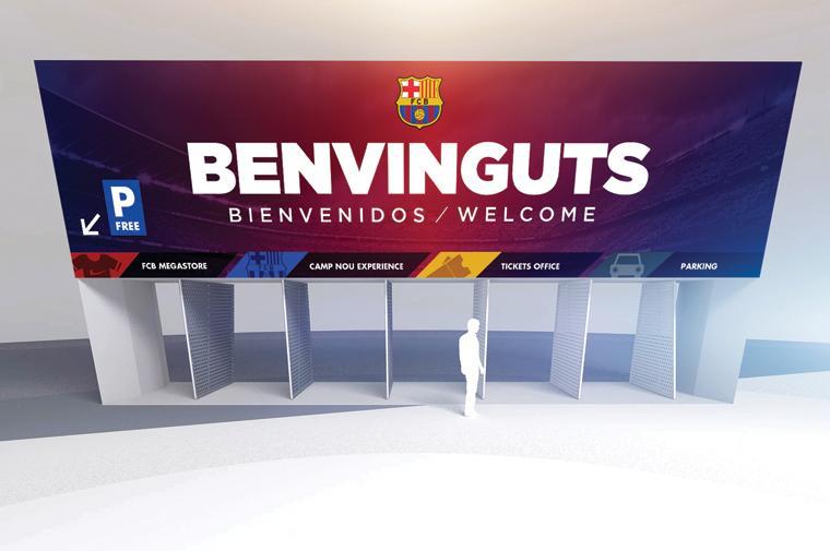 Camp Nou Stadium, Access, Barcelona © Circular Studio
