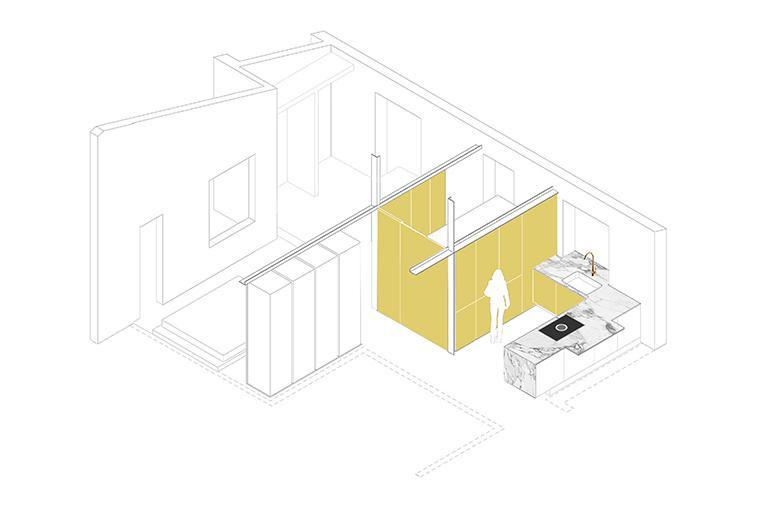 #apartment #architecture #renovation #bcn @circular_studio © Circular Studio